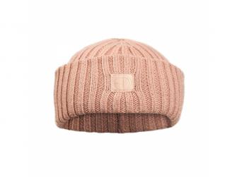 Vlněná čepička Blushing pink 0-6m