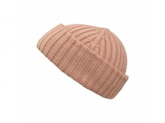 Vlněná čepička Blushing pink 6-12m 2