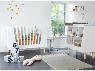 Dětská postýlka 120x60 cm - bílá 5
