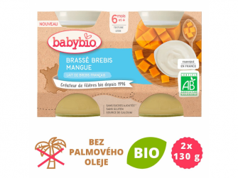 Brassé z ovčího mléka mango 2x130 g