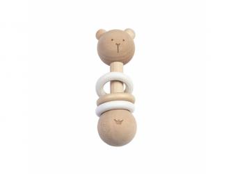 BAMBAM  Chrastítko dřevěné  medvídek