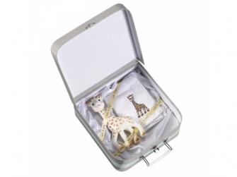 Dárkový kufřík žirafa Sophie + froté ručník