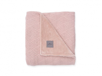 Deka 75x100cm River knit pale pink/coral fleece