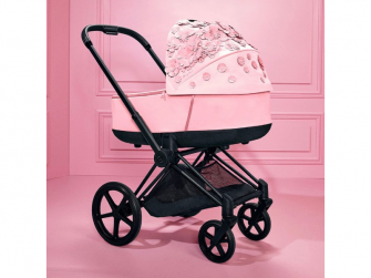 Priam Lux hluboká korba SIMPLY FLOWERS, PINK-light pink 5