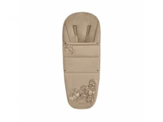 Footmuff SIMPLY FLOWERS, BEIGE-mid beige