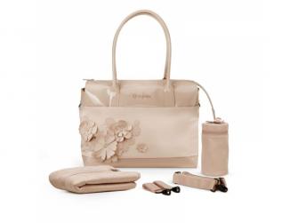 Přebalovací taška SIMPLY FLOWERS, BEIGE-mid beige