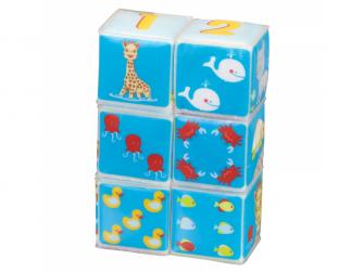 Kostky Sophie la girafe do vany 6 kusů