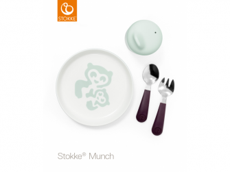 Set nádobí Munch Essential - soft mint