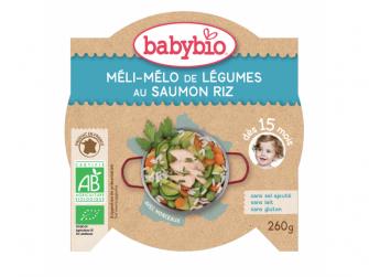 menu zelenina s lososem a rýží 260g