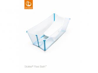 Skládací vanička  a lehátko Flexibath®, Transparent Blue