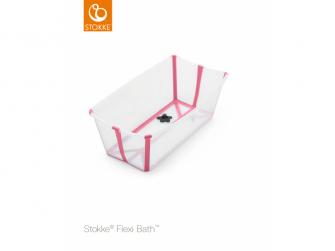 Skládací vanička Flexi Bath®, Transparent Pink