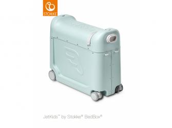 JetKids™ BedBox® 2.0 - dětské zavazadlo s lůžkem, Green Aurora