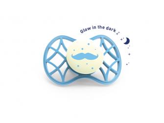 Fyziologický dudlík Cool 6m+ svítící ve tmě, Dusk blue