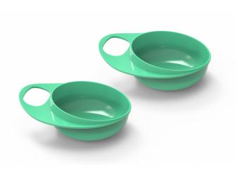 Plastové misky 2ks, Pastel green