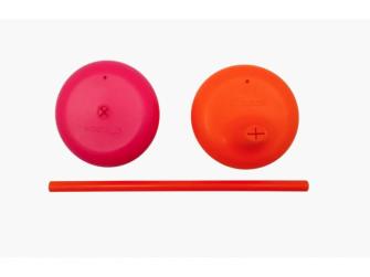 Univerzální silikonová víčka - růžová/oranžová