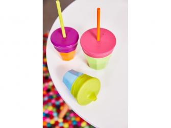 Univerzální silikonová víčka - fialová/zelená 6