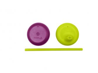 Univerzální silikonová víčka - fialová/zelená