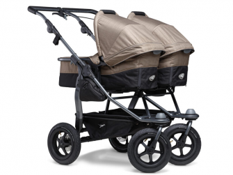 Duo combi push chair - air wheel brown