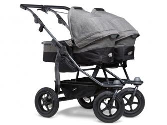 Duo combi push chair - air wheel prem. grey