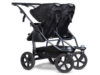 Duo combi push chair - air chamber wheel black 3