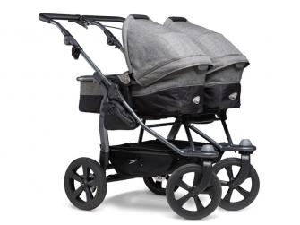 Duo combi push chair - air chamber wheel prem. grey