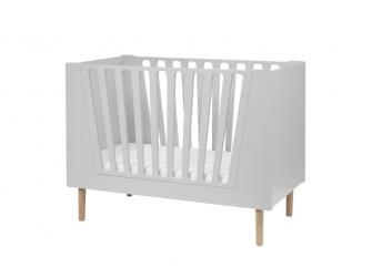 Dětská postýlka 60x120 cm - šedá 2