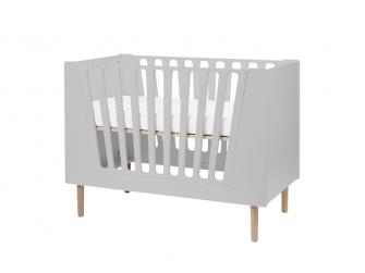 Dětská postýlka 60x120 cm - šedá