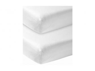 žerzejové prostěradlo 2-balení 60x120 white