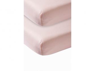 žerzejové prostěradlo 2-balení 60x120 light pink