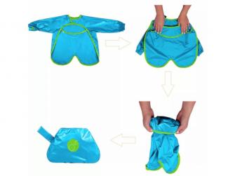 Brydnáček s rukávy - modrý 2