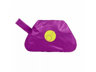 Bryndáček s rukávy - velký - fialový 2