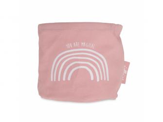 Koš na kosmetiku Canvas Rainbow pink