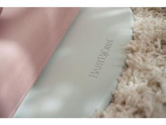 Lehátko BLISS Dusty pink cotton - prošívání Petal, světlá konstrukce 4