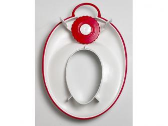 Adaptér na WC White/Bright Red 3