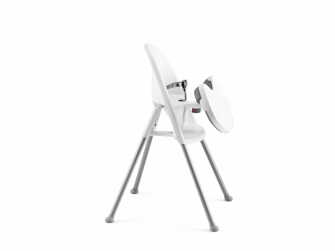 Dětská vysoká židle s pultíkem a pásy White - bílá 2
