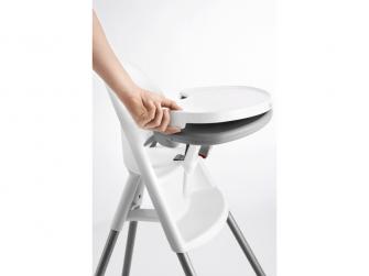 Dětská vysoká židle s pultíkem a pásy White - bílá 3