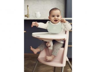 Dětská vysoká židle s pultíkem a pásy Pink - růžová 6