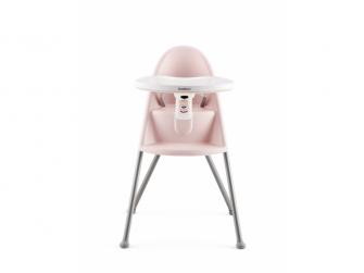 Dětská vysoká židle s pultíkem a pásy Pink - růžová