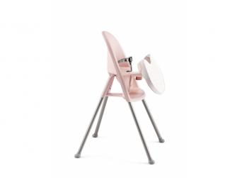 Dětská vysoká židle s pultíkem a pásy Pink - růžová 2