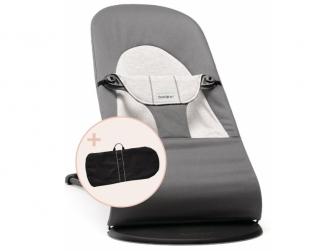 Lehátko SOFT Dark grey/grey Jersey a transportní taška