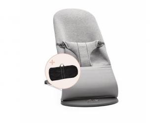 Lehátko BLISS Light grey 3D Jersey a transportní taška