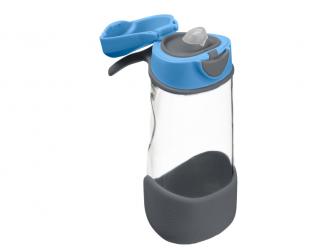 Sport láhev na pití - modrá/šedá 2