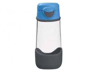 Sport láhev na pití - modrá/šedá