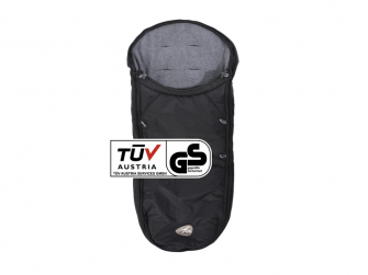 Footmuff universal black for Dot buggy T-068-310