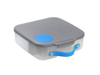 Svačinový box - modrý/šedý