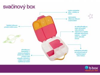 Svačinový box - indigo/růžový 10
