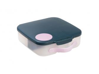 Svačinový box - indigo/růžový