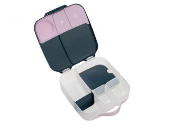 Svačinový box - indigo/růžový 4