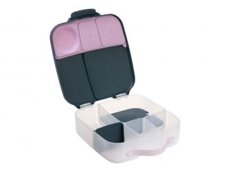 Svačinový box - indigo/růžový 2