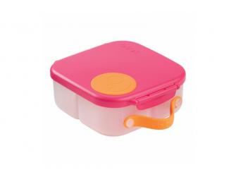 Svačinový box střední - růžový/oranžový
